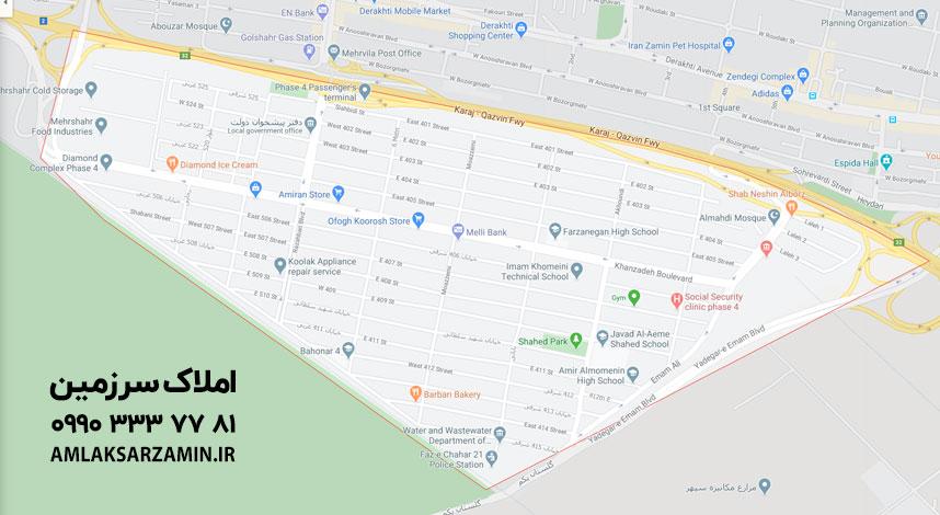 نقشه فاز 4 مهرشهر